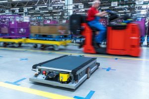 Roboter BMW i3 Btterien