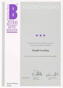 Bester Berater 2016